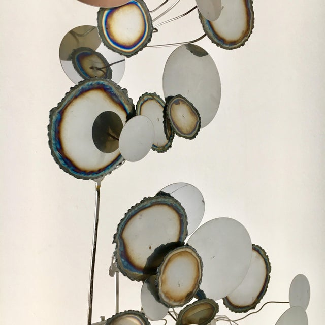 A Chrome Raindrops Wall Sculpture For Sale - Image 4 of 5