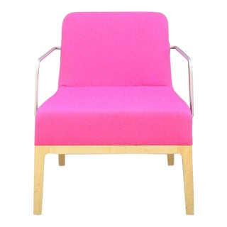 Contemporary Keilhauer Pink Upholstered Arm Chair For Sale