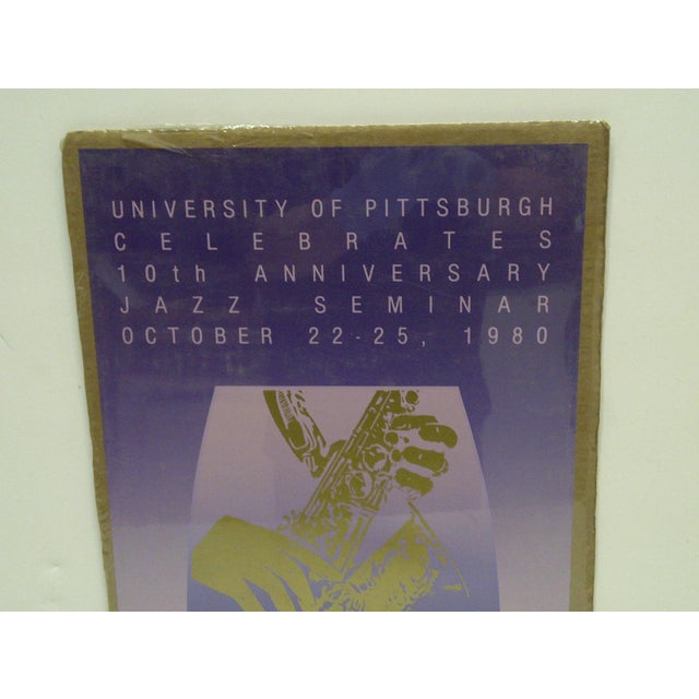 American Vintage Jazz Concert Poster - Carnegie Hall, University of Pittsburgh, 1980 For Sale - Image 3 of 4