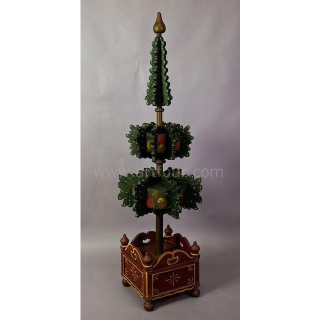 Pair Of Painted Wood Hall Trees, Germany 1909 For Sale - Image 4 of 5