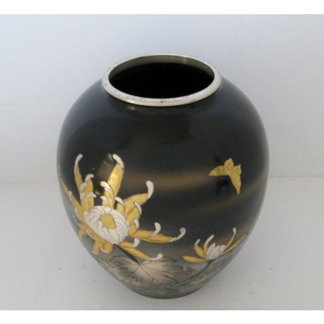 Vintage Meiji Metalwork Vases - A Pair - Image 7 of 11