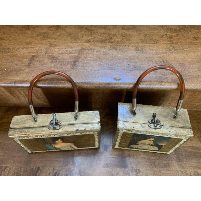 Gold Decor Wall Hanging Victorian Boxes - a Pair For Sale - Image 10 of 12