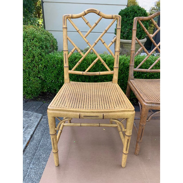 Mid 20th Century Mid-20th Century Faux Bamboo Dining Chairs- Set of 10 For Sale - Image 5 of 13