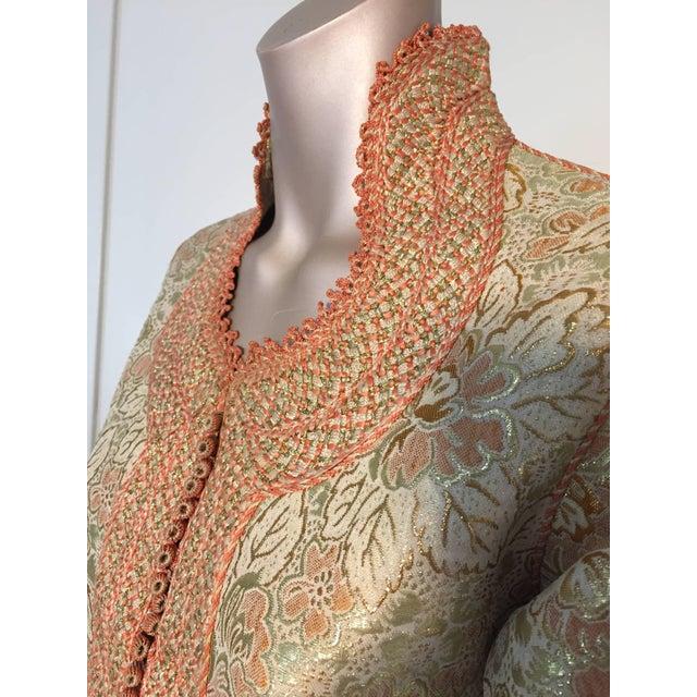 Islamic 1970s Moroccan Caftan Gold Brocade Maxi Dress Kaftan For Sale - Image 3 of 10
