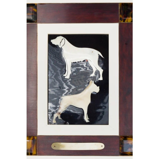 Italian Horn and Resin Dog Picture For Sale - Image 4 of 8