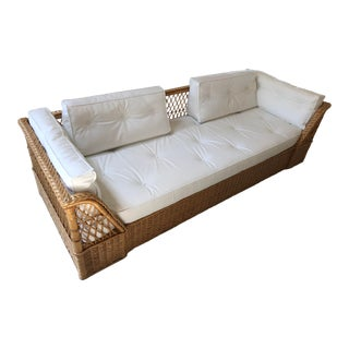 The McGuire Company Wicker Couch For Sale