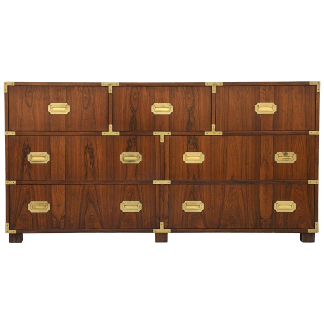 Pair of Walnut Baker Chests of Drawers For Sale