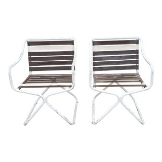 Late 20th Century Tropitone Style Outdoor Chairs- A Pair For Sale