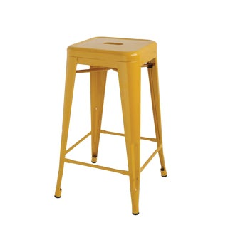 Mid Century Style Metal Stool For Sale