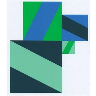 1997 Abstract Serigraph by Anton Stankowski, Limited Edition For Sale