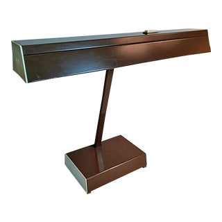 Vintage Mid-Century Modern Industrial Luxo Fluorescent Desk Lamp For Sale