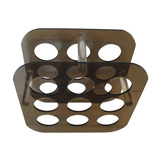 Vintage Smoked & Clear Lucite Wine Rack