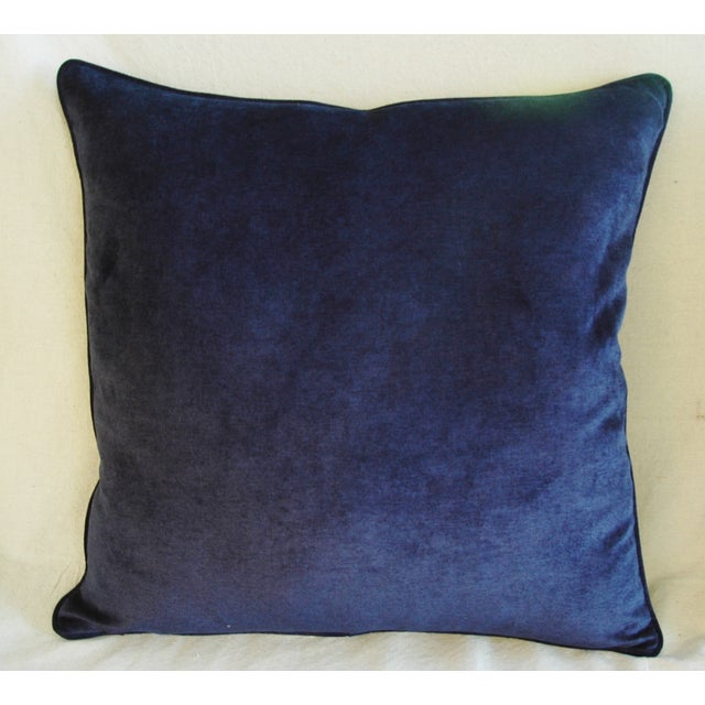 Midnight Blue Velvet Feather/Down Pillows - Pair - Image 3 of 9