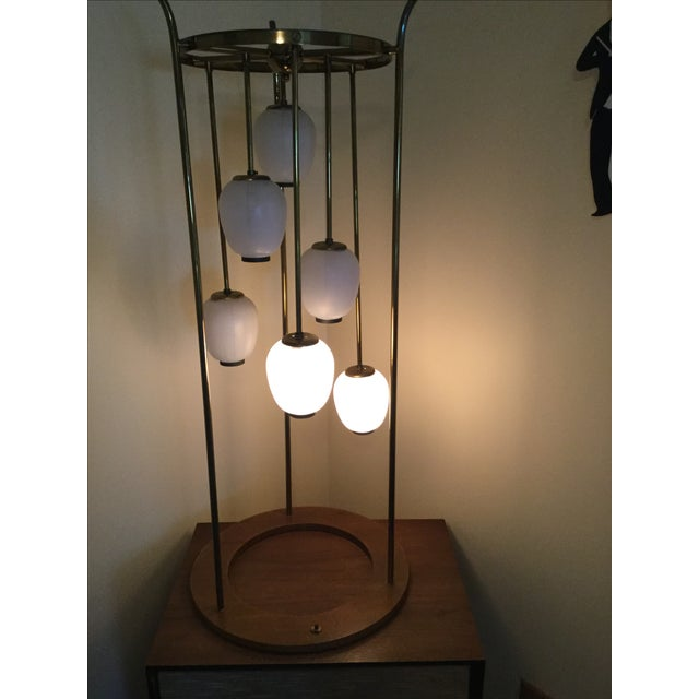Mid-Century Modern Six Light Lamp - Image 4 of 9