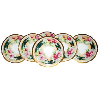 Coronet Limoges Cabinet Plates - Set of 6 For Sale