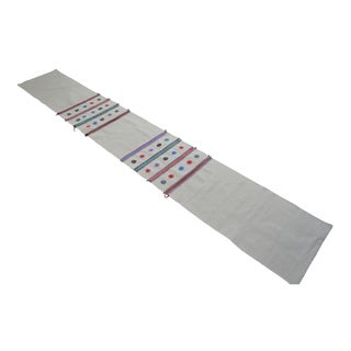 Hand-Woven Turkish Runner Rug. Tribal Long Runner Hallway Rug - 2′3″ × 15′7″ For Sale
