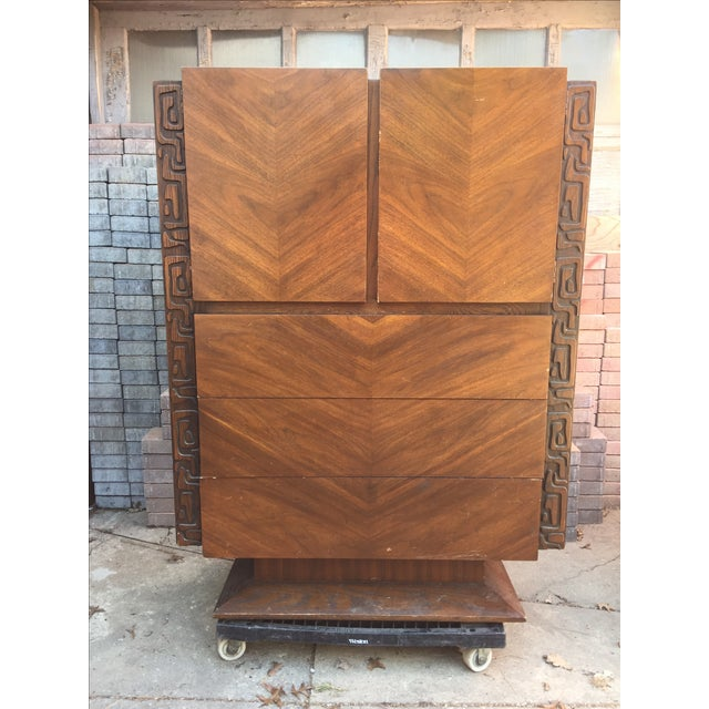 Brutalist Armoire by United Furniture - Image 2 of 7