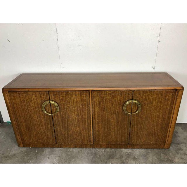 1970s Midcentury Mahogany and Brass Credenza by Micheal Taylor for Baker For Sale - Image 5 of 13