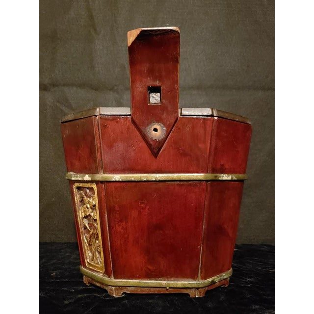 Asian Antique Shanxi Tea Caddy and Locking Lid For Sale - Image 3 of 10