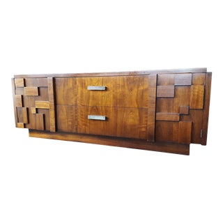 Vintage Lane Furniture Staccato Mid-Century Brutalist Style Sideboard For Sale