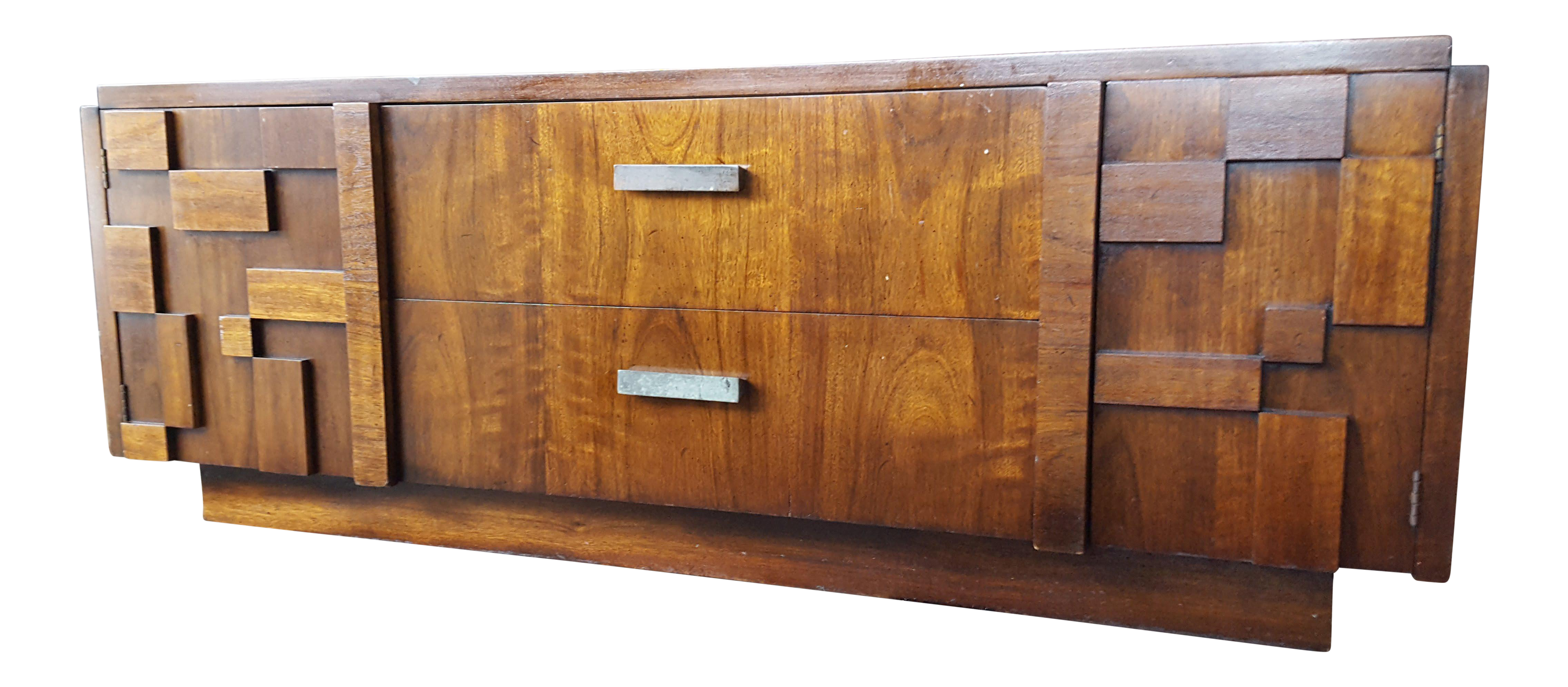 Gentil Vintage Lane Furniture Staccato Mid Century Brutalist Style Sideboard For  Sale