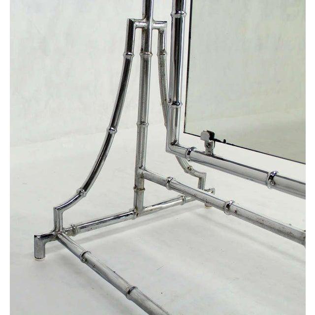 Lovely Mid Century Modern Chrome Faux Bamboo Metal Chevelle Floor ...