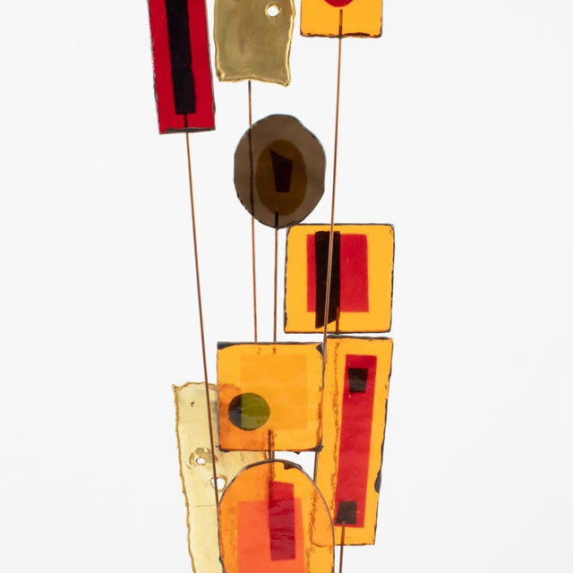 Abstract C. Jeré Artisan House Resin and Brass Tabletop Sculpture, Circa 1966 For Sale - Image 3 of 13