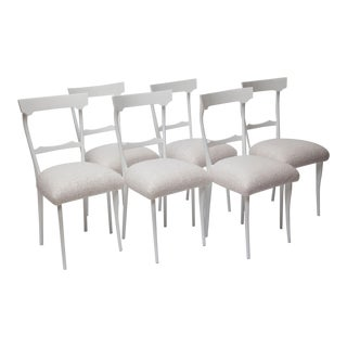 Set of Six 1950s Italian Dining Chairs in the Style of Ico Parisi