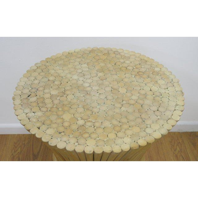 McGuire Rattan Table Bases - Set of 2 - Image 3 of 4