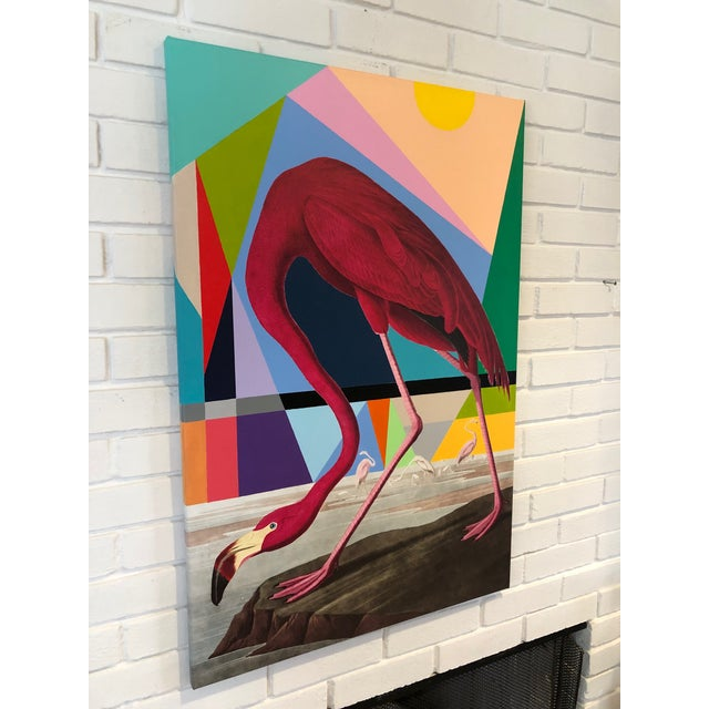 Homage to Audubon. Mixed Media Painting by Artist Tony Curry Artist: Tony Curry Modern Abstract Mixed Painting on canvas...