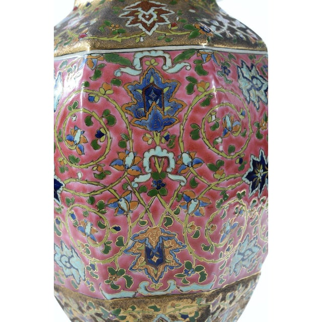 Chinese 19th Century Famille Pink Porcelain Urn For Sale - Image 4 of 10