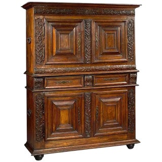 Louis XIII Oak Buffet a Deux Corps, Late 17th Century For Sale