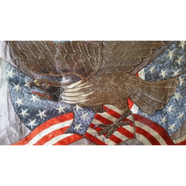 World War I Embroidered Souvenir American Eagle Flag - Image 8 of 8