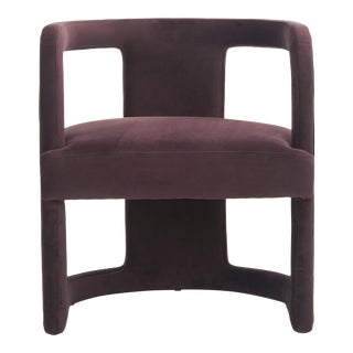 Rory Side Chair in Plum Purple For Sale