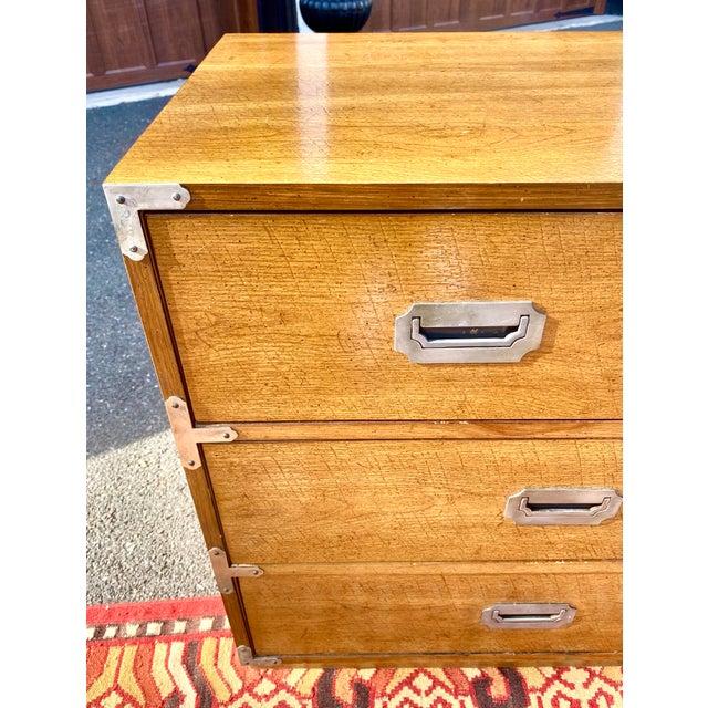 1970s 1970s Mid Century Modern Bernhardt Walnut Campaign Dresser For Sale - Image 5 of 13