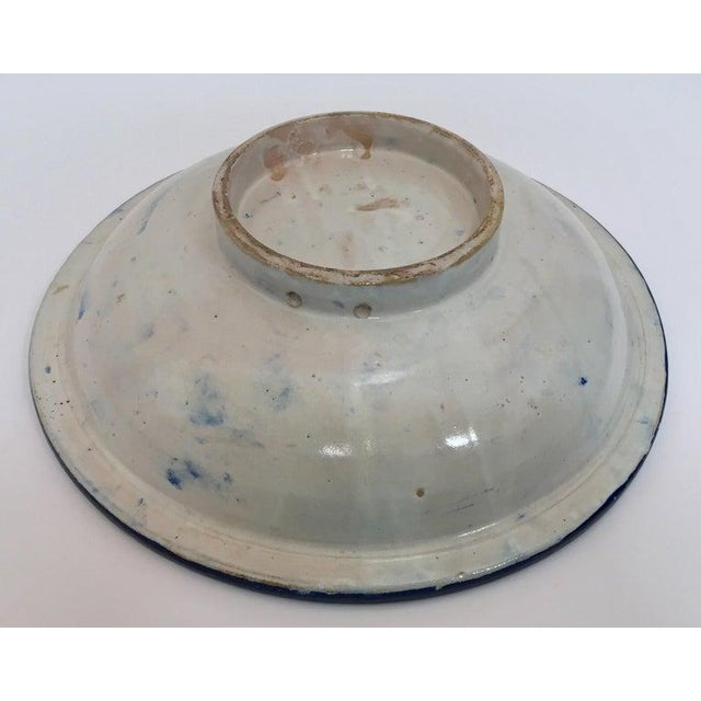 Moroccan Large Ceramic Plate Bowl From Fez For Sale - Image 11 of 13