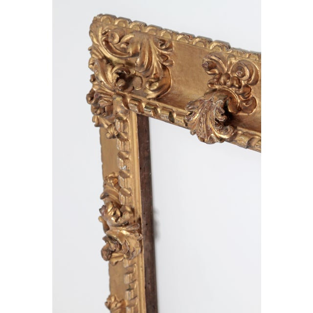 17th Century Rare 17th Century Giltwood Italian Picture Frame For Sale - Image 5 of 11