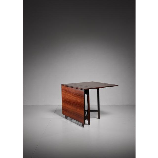 Fine Scandinavian Rosewood Drop Leaf Gateleg Table Decaso