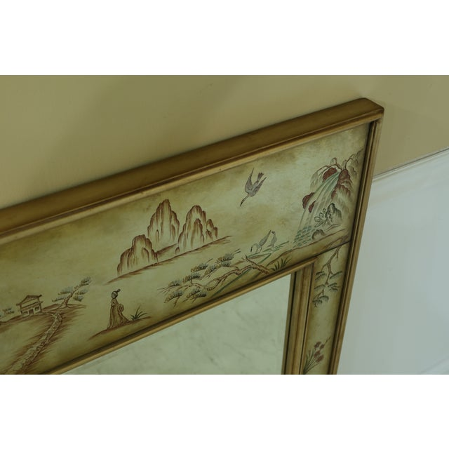 Labarge 8192-28 Eglomise Chinoiserie Mirror For Sale In Philadelphia - Image 6 of 9