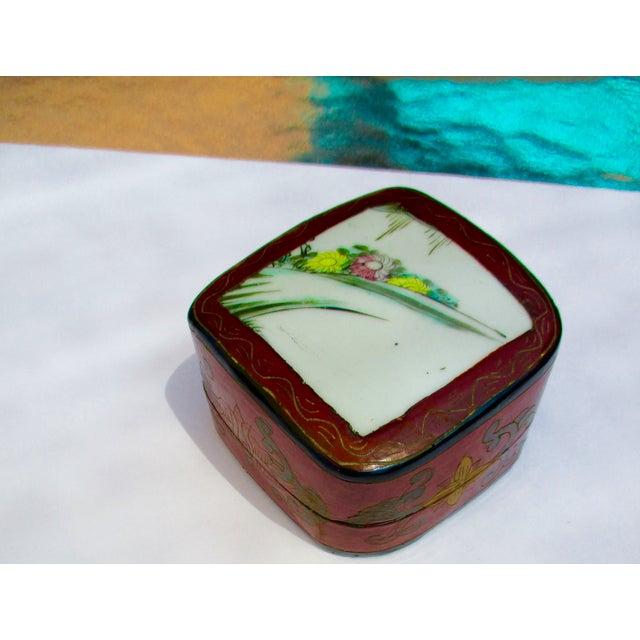 Porcelain Lacquer Glam Trinket Boxes - Set of 3 - Image 10 of 11