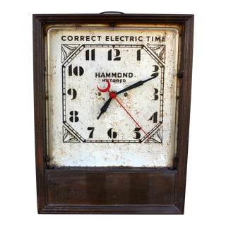 Vintage Neon Table Top Clock For Sale