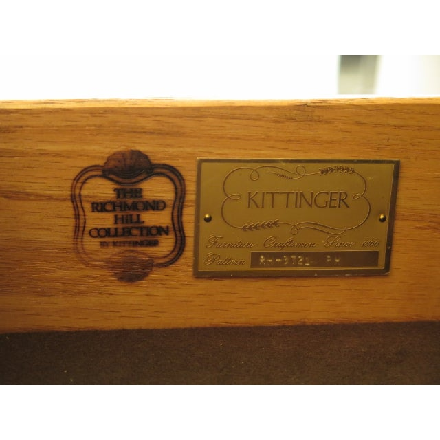 Kittinger Richmond Hill Collection Mahogany Breakfront For Sale In Philadelphia - Image 6 of 14