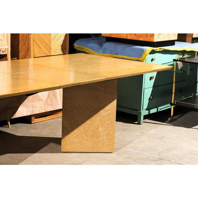 Gorgeous Knife Edge Extension Dining or Conference Table in Bird's-Eye Maple For Sale In Atlanta - Image 6 of 11
