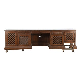 20th Century Mid Century Moroccan Handcrafted Decorative Desk For Sale
