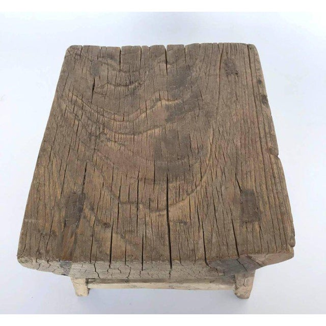 Early 19th Century Rustic Japanese Elm Stool or Small Table For Sale - Image 5 of 8