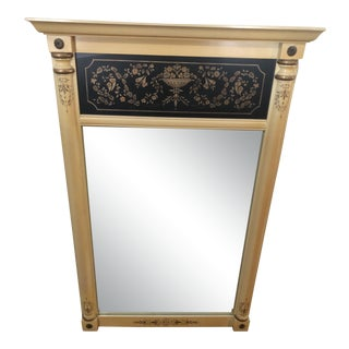 Hitchcock Wooden Trumeau Mirror For Sale