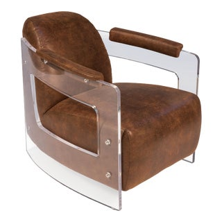 Speed of Sound Chair in Brown For Sale