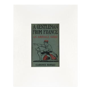 "Vintage ""A Gentleman From France"" Book Cover Art For Sale"