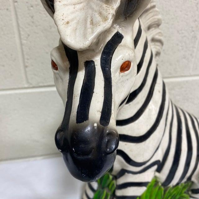 Vintage Hollywood Regency Resin Zebra Sculpture For Sale - Image 9 of 13