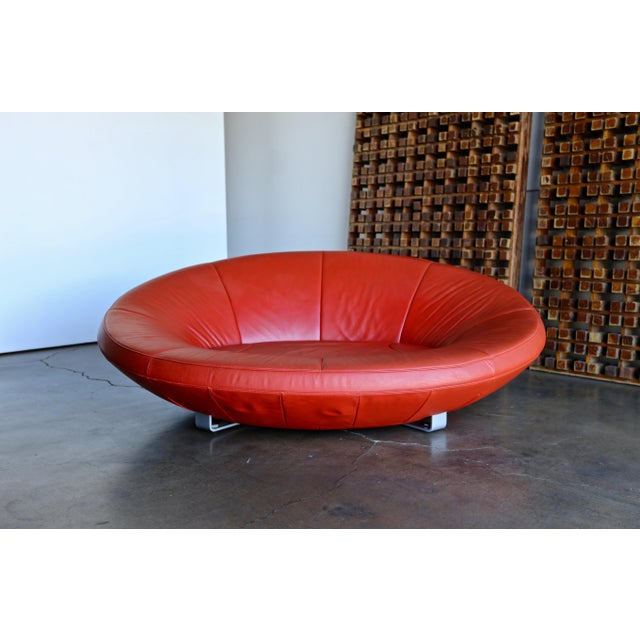 Jane Worthington DS 152 Red Leather Sofa for De Sede For Sale - Image 10 of 13
